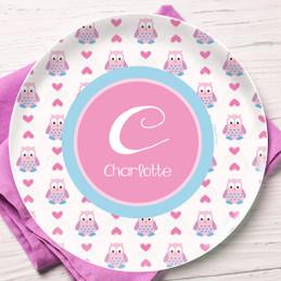 Owl Love Kids Plates