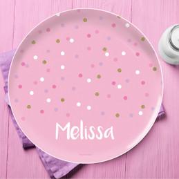 Sweet Glitter Dots Kids Plates
