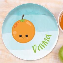 Yummy Orange Kids Plates