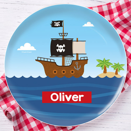 All Aboard Pirates Kids Plate