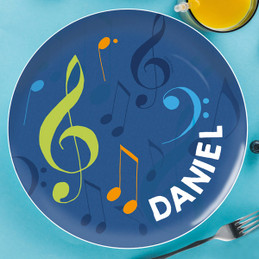 Musical Notes Kids Plate