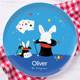 Cute Magician Boy Kids Plate