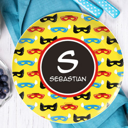 Super Hero Masks Kids Plate
