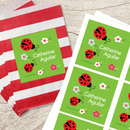 Curious Lady Bug Gift Label Set