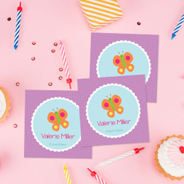 Sweet Butterfly Gift Label Set