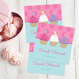 Three Sweet Cupcakes Gift Label Set