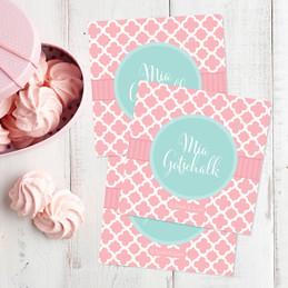 Pretty Pink Quatrefoil Gift Label Set