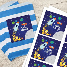 Rocket Launch Gift Label Set