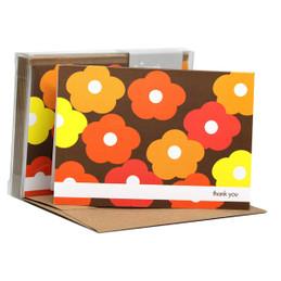 Flower Bunch Orange Notecards