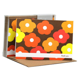 Gorgeous Boxed Note Cards | Flower Bunch Orange