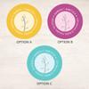 Modern Thin Tree Label Set