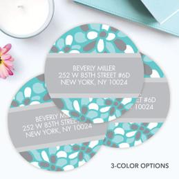 Stamped Blossoms Label Set