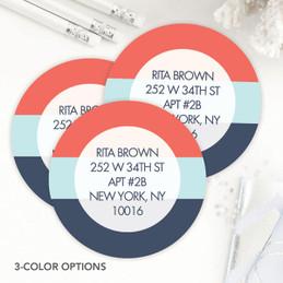 Three Color Rows Label Set