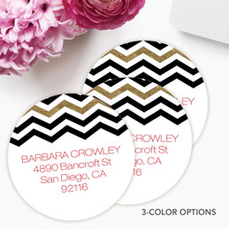 Black Chevron Label Set