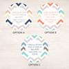 Colorful Chevrons Label Set