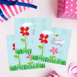 Spring Flowers Gift Label Set