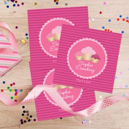 Sweet Cupcakes Gift Label Set