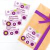 Purple Circles And Circles Gift Label Set