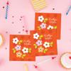 Orange Preppy Flowers Gift Label Set