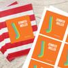 Orange Double Initial Gift Label Set
