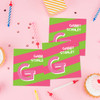 Pink Double Initial And Stripes Gift Label Set