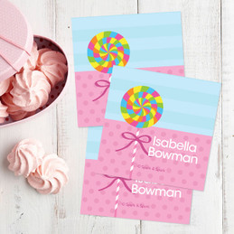 Yummy Lollipop Gift Label Set