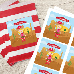 Cowgirl Gift Label Set
