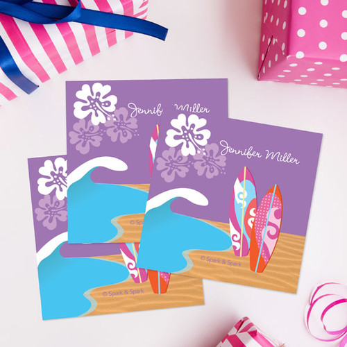 Surfing The Waves Gift Label Set