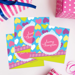Happy Hearts Gift Label Set