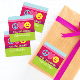 Peace & Love Signs Gift Label Set