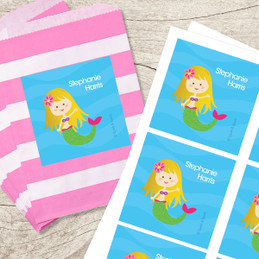 Cute Mermaid Gift Label Set