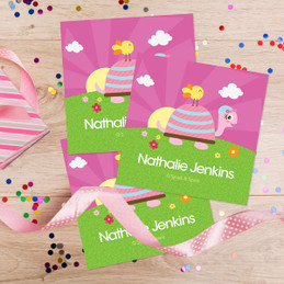 Turtle And Happy Bird Gift Label Set