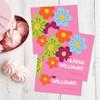Shiny Bold Flowers Gift Label Set