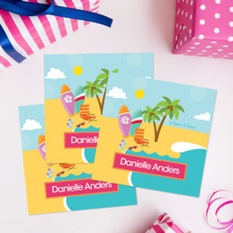 Fun At The Beach Gift Label Set