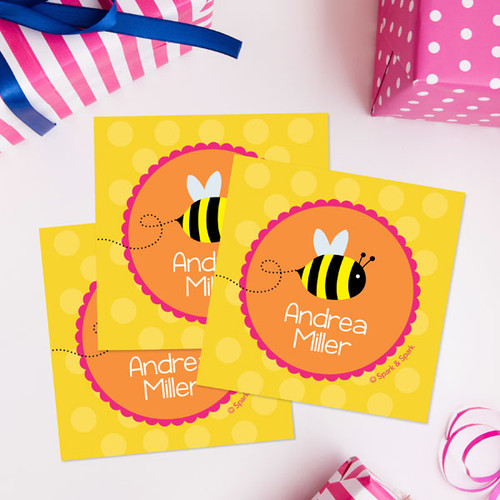 Fly Little Bee Gift Label Set