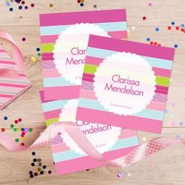 Pastel Stripes Gift Label Set
