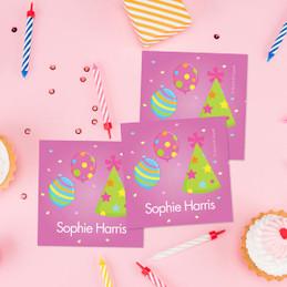 Sweet Bday Girl Gift Label Set