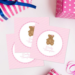 A Sweet Teddy Bear Gift Label Set
