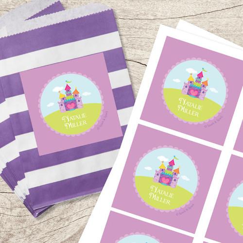 Pretty Heart Castle Gift Label Set