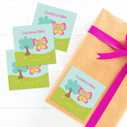 Cute And Sweet Butterfly Gift Label Set