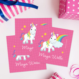 Rainbow Unicorn Gift Label Set