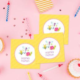 Three Sweet Little Bugs Gift Label Set