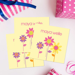 Three Spring Blooms Gift Label Set
