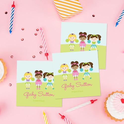 Three Cheerleaders Gift Label Set