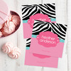 Zebra And Pink Gift Label Set