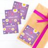 Purple Field Of Flowers Gift Label Set