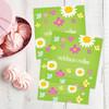 Green Field Of Flowers Gift Label Set
