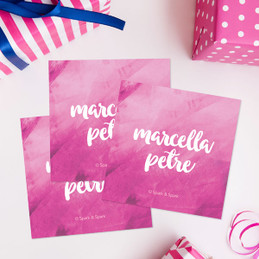 Bold Colorful Name Gift Label Set