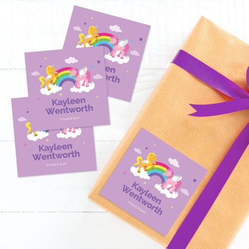 Sweet Unicorns Gift Label Set