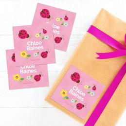 Three Lady Bugs Gift Label Set